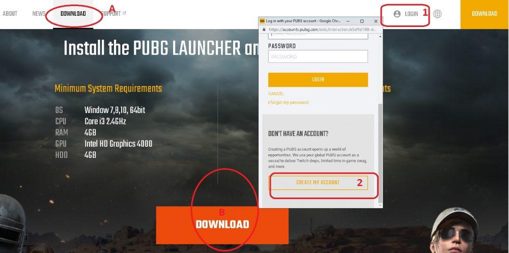 cara daftar dan download PUBG lite