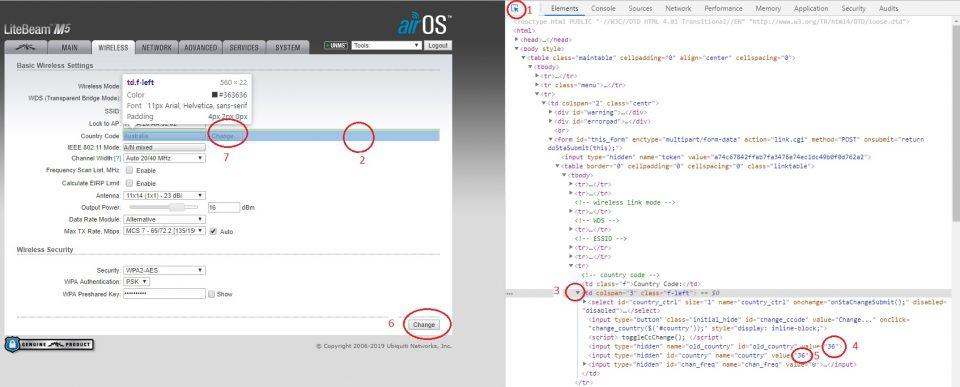 mengganti negara radio ubnt dengna edit html ranpa reset