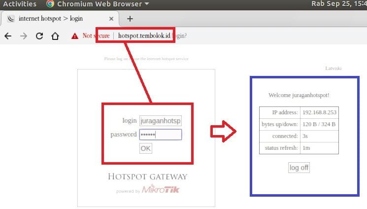 cara login wifi hotspot mikrotik agar terkoneksi internet