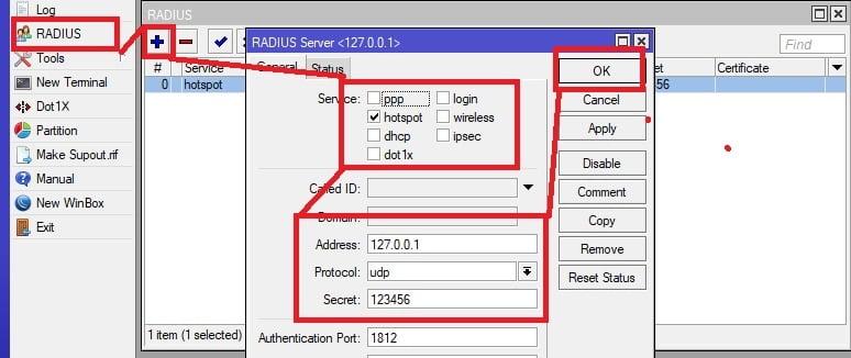 cara membuat server radius untuk hotspot di mikrotik