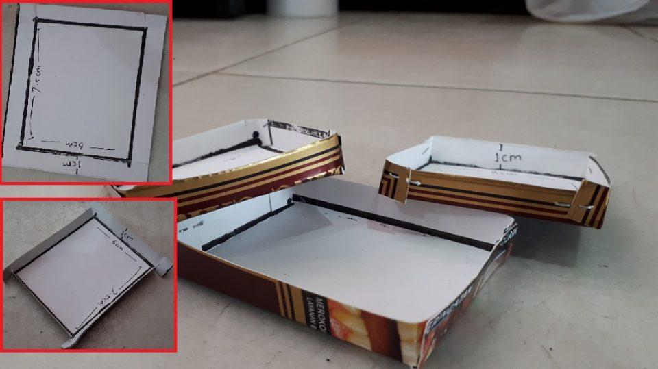 wadah umpan racun tikus buatan sendiri dari kertas karton bekas