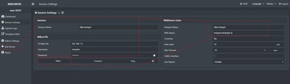 cara menambahkan router mikrotik di mikhmon
