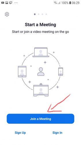join meeting dengan zoom
