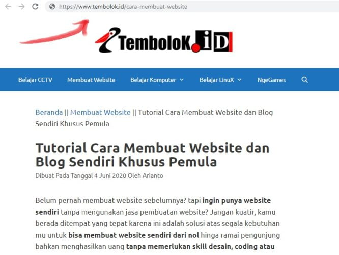 url slug pada wordpress