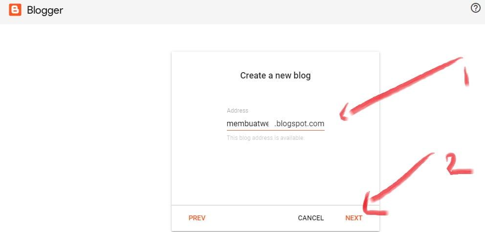 membuat alamat website atau blog di blogger