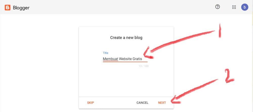 menentukan judul blog/website di blogspot