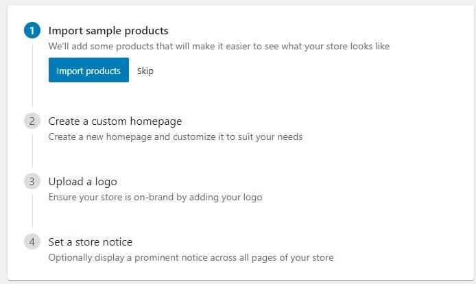 import demo produk woocommerce untuk membantu melihat tampilan toko online