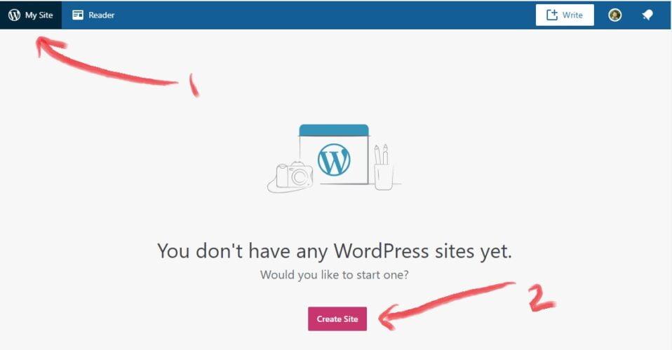 memulai pembuatan website gratis di wordpress.com