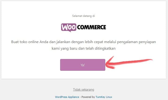 memulai setup toko online setelah selesai mengaktifkan plugin woocommerce