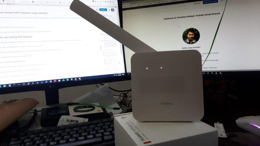 Wifi Hotspot di rumah menggunakan 4G router internet seluler