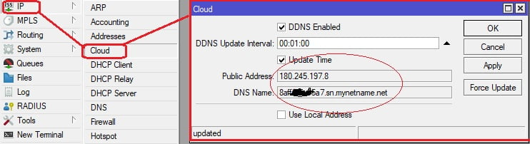 fitur DDNS gratis dari mikrotik