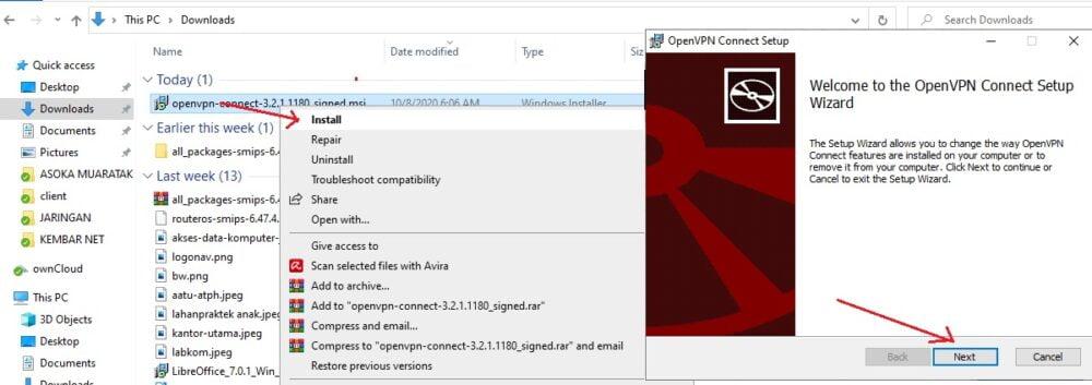 cara install openvpn client di windows